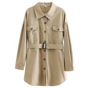 Women's Trench Coats Autumn Winter Casual Single Breasted Pocket Women Coat Fashion With Waist Belt Streetwear Lapel Neck Elegant Slim Fit S