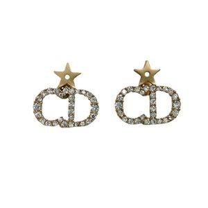 letter Old Star S925 silver needle fashion Earrings bronze earrings for women
