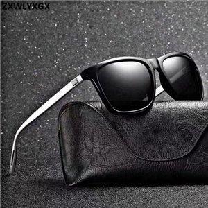 Marca Unisex Retro Aluminio + TR90 Mujer Gafas de sol Hombres Lente polarizada Accesorios de gafas Vintage Gafas de sol Oculos