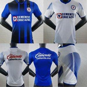 Oyuncu Sürümü Cruz Azul Fútbol Club Futbol Formaları 21/22 Kısa Kollu Uzak Beyaz Gömlek 2021/2022 Futbol Üniformaları