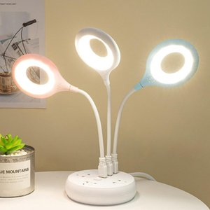 Table Lamps Desk Lamp Eye Protection Study LED USB Rechargeable Flexo Ring Laptop Night Lights