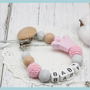 Silicone Baby Pacifier Clips Funny Chain With Mouse Holder For Shower Gift Bpa Kids Maternity Feeding Pac Q96Xh