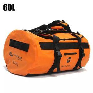 60L Outdoor Waterproof Swimming Bag Backpack Bucket Dry Sack Storage Bags for Rafting Sports Kayaking Canoeing Travel