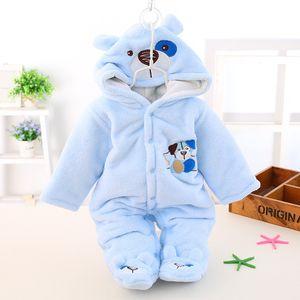 Kadife Romper Yenidoğan Sıcak Peluş Ceket Tek Parça Konfeksiyon Bebek Erkek Kalınlaşma Moda Tırmanma Giysileri Tulum Kış 31dk K2