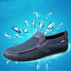 2021 Summer net shoes men's casual breathable mesh sports one-foot large size walking old Beijing cloth 36-47
