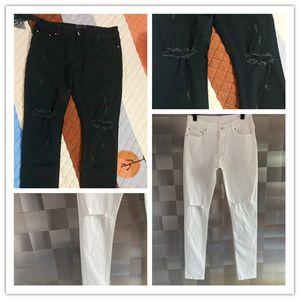 Novo Designer de Luxo Mens Jeans Lavado Design Branco Calça Jeans Legal Lightweight Denim Stretch Denim Skinny Jeans Calças Skinny Tamanho 29-40