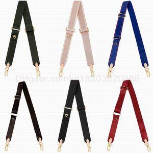 8 цветов холст плечевые ремни для 3 шт. Установленные сумки Сумки женщин Crossbody сумка Натуральная кожа дизайнеры леди на плечо 44823 кошелек монеты