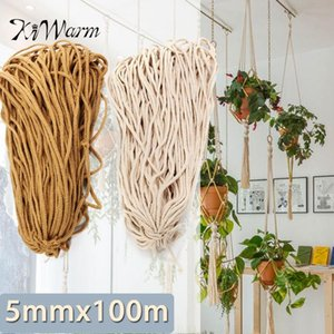 5mmx100m Braided Cotton Rope Twisted Cord DIY Craft Macrame Woven String Home Textile Accessories Gift Yarn