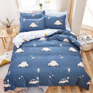 Bedding Sets Solstice Home Textile King Queen Twin 3 4Pcs Suit Pink Heart Girl Kid Teenage Bed Linen Set Duvet Cover Pillowcase Sheet