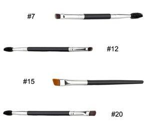 Brower Brush Brush - مزدوجة المنتهية الحاجب Spoolie الزاوية للتطبيق الدقيق مزج مساحيق العين والشمع والمواد الهلامية