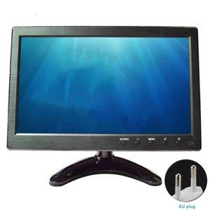Monitors 10.1inch LCD Monitor VGA Input Ultra-thin Car Video Audio BNC For PC TV Portable Adjustable Angle 1024x600 Remote Control