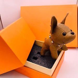 Mode Keychains Designer Key Buckles Boucles Porte Pendentif Sacs Sacs Dogs Design Touches de poupée de luxe Boucle 7 couleurs haute qualité avec boîte en option
