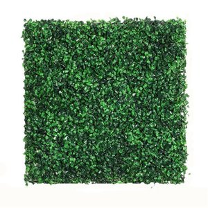 50x50cm Artificial Plant Foliage Hedge Grass Mat Greenery Panel Decor Wall Fence Carpet Real Touch Lawn Moss Fake Decorative Flowers & Wreat