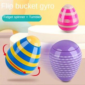 Multi-Colors Creative Tumbler Toy Finger Desktop Gyro Egg Handstand Rotating Children's Adult Decompression Fidget Spinner Toys