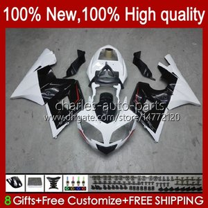 Kit bodywork per Triumph Bianco Nero Daytona 600 650 cc Daytona650 02-05 Cowling 104HC.27 DayTona600 2002 2003 2004 2005 Bodys Daytona 600 02 03 04 05 Full Fairings