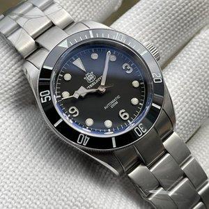 Steeldive Men's Automatic Watch SD1958 Negro Dial Zafiro Cerámica Bisel 20ATM Resistencia al agua NH35 Relojes Mecánicos Movimiento Relojes Wristwatche