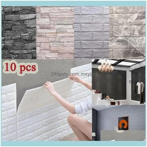 Décor Home & Garden10 Pcs 3D Wall Stickers Self-Adhesive Tile Waterproof Foam Panel Living Room Tv Background Protection Baby Wallpaper 38*3