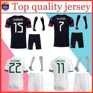 Mexico soccer jerseys set 20 21 Fans CHICHARITO LOZANO DOS SANTOS Soccer Jersey 2021 football shirts Men Kids sets kit