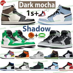 Silberner Zeh 1s 1S Männer Basketballschuhe Hohe dunkle Mokka Schatten UNC Patent University Blue Light Smoke Grey Chicago Twist Royal Sports Turnschuhe