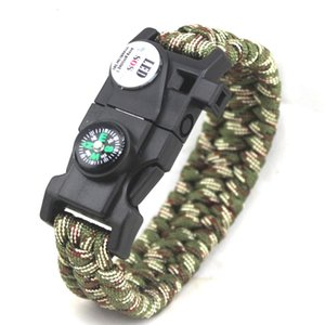 Umbrella rope hand woven multifunctional outdoor camping SOS help light high score chant survival whistle Bracelet