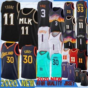 2020 NCAA Basketbol Formaları Trae 11 Genç Devin 1 Booker Stephen 30 Köri Erkek Wiseman Thompson Chris 3 Paul Style En Kaliteli Dikişli