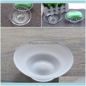 Soap Bath Home & Gardensoap Dishes Dish Round Glass Storage Box Clear Holder Aessories For Shower Bathroom El Drop Delivery 2021 E6J3R
