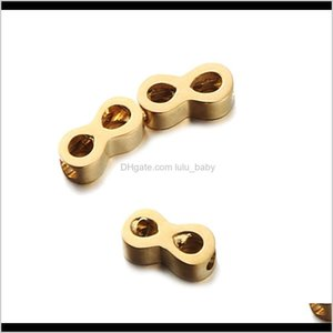 20Pcslot Fashion 3D Stainless Steel 8 Shape Spacer Infinity Symbol Loose Jewelry Making Diy Handmade Craft Acnqe Metals Cozpt