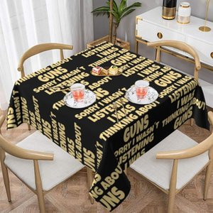 Table Cloth Gun Tablecloth Printed Decoration Cover Polyester Garden Waterproof