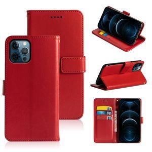 Top téléphone portefeuille pour iPhone 12 Pro Max Mini 11 xR xs 7/8 plus Coque de luxe en cuir PU à la poche de carte
