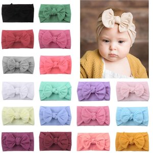 18 Colors Super Stretchy Soft Knot Girl Headbands with Hair Bows Head Wrap For born Baby Girls Infant Toddlers Kids