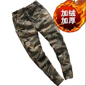Camouflage Autumn and winter plus Womens Pant cashmere Long Camo Cargo Trousers Casual Military Army Combat Couple SweatpantsFC2