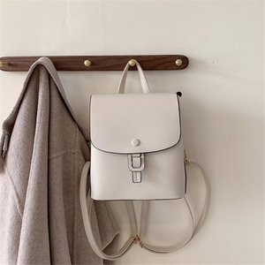 Backpack Style Small Women's Simple Design White For Teenagers Girl School Shoulder Bag Ladies Pu Leather Travel Mochilas