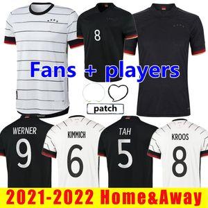 2021 2022 Almanya oyuncu sürümü futbol formaları hayranları hummels kroos gnabry werner draxler reus muller gotze avrupa kupası futbol gömlek boyutu s-xxl