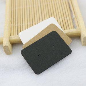 Commercio all'ingrosso Stud Imballaggio Materiali Blank Kraft Carta Ear Studs Carta orecchino Carta per orecchini Fai da te Tag da tappa Bianco Black Kraft 100pcs 644 Q2