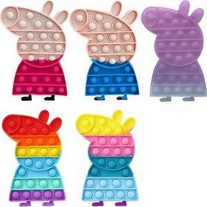DHL Push Bubble Pig Fidget Toys Decompression Toy For Children Adults Antistress Reliver