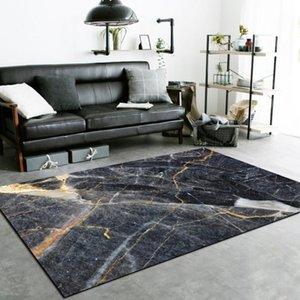 Carpets Fashion Modern Light Luxury Imitation Marble Black Kitchen Living Room Bedroom Bedside Carpet Floor Mats Area Rug Rugs