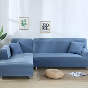 2Pcs Sofa Cover for Living Room Couch Cover Elastic L Shaped Corner Sofas Covers Stretch Chaise Longue Sectional Slipcover 284 S2