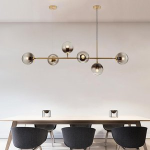 Pendant Lamps Modern Luminaire Deco Maison Glass Ball Living Room Bedroom LED Lights Luminaria Pendente Industrial Lamp