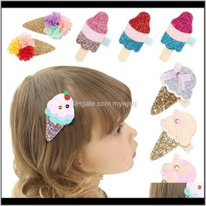 24Pclot Glitter Felt Pink Ice Baby Girls Clip With Mini Bow Barrette Cute Sequin Gold Silk Hairpin Arrival 121 Y2 Julez Accessories Cqn90