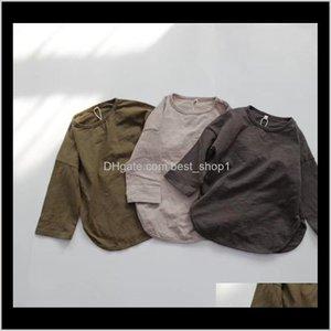 Fm Korean Australia Organic Cottons Quality Ins Kids Little Boys Tees Long Sleeve Tshirt Spring Summer Unisex Top 18 O7Ybv Tshirts E1Cvi