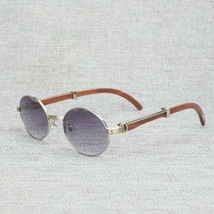 Sunglasses Finger Black Buffalo Horn Men Natural Wood Clear Glass Frame for Women Outdoor Eyewear Round Glassesybc2
