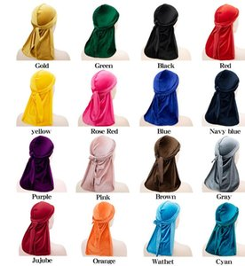 New arrived Men's Velvet Durags Bandana Turban Hat Wigs Doo Durag Biker Headwear Headband Pirate Hat Hair Accessories