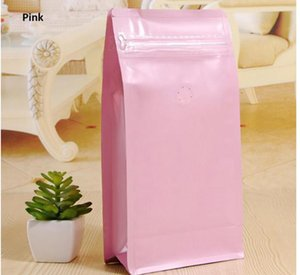 상자 파우치 1 파운드 커피 가방 편도 탈기 밸브가있는, 플랫 바닥이있는 지퍼 커피 가방