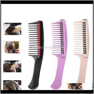 Professional Anti Splicing Detangling Roller Comb Integrated Roller Hair Comb Professional Salon Barber Hair Dyeing Hair Daily Care Yz 9Pcby