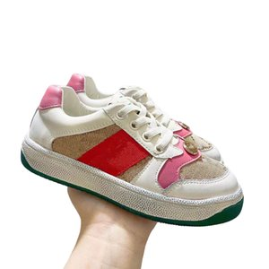 2021 Hot sold Childrens brand casual shoes for boys and girls real leather kids shoes sneakers babays shoes26-35