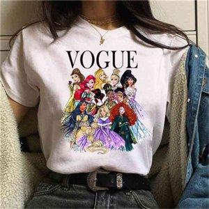 Женские толстовки Толстовки Принцессы Vogue Tee Женщины Летние Графические футболки T-Рубашки