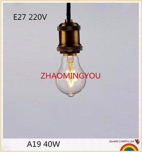 Bulbs 1PCS Edison A19 E27 40W 220V Incandescent Filament Retro Light For Pendant Lamp