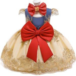 Erstes Geburtstagskleid für 1 2-jährige Baby-Spitze-Party Prinzessin Weihnachtskostüm geborenes 1. Taufkleid