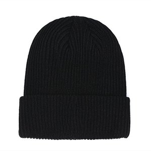 New France fashion beanies hats bonnet winter beanie knitted wool hat plus velvet cap skullies Thicker mask Fringe hats man