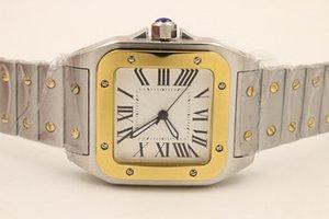 Reloj de alta calidad para mujeres 36 mm Movimiento automático cuadrado cuadrado de cuadrante blanco 316 banda de acero inoxidable